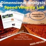 Dimensional Analysis with Speed/Velocity Inquiry Based Lab