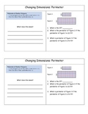 Dimensional Change of Perimeter & Area Using Scale Factors Class Notes