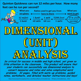Dimensional Analysis (Unit Analysis)