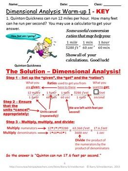 Dimensional Analysis (Unit Analysis)
