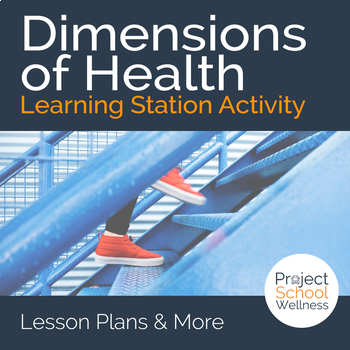 Dimensions of Health - - Learning Station Activity - - Health Lesson Plans
