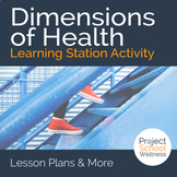 Dimensions of Health Learning Station Activity a Health Education Lesson Plan