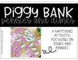 Dimes and Pennies Piggy Bank Match-up