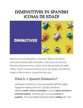 Diminutives in Spanish ¿Cosas de edad?