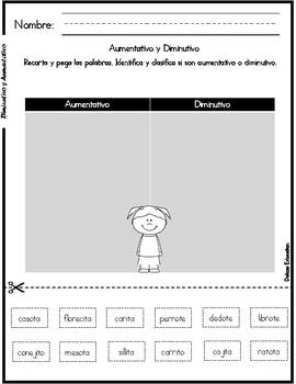 Diminutivos y Aumentativos | Diminutive in spanish