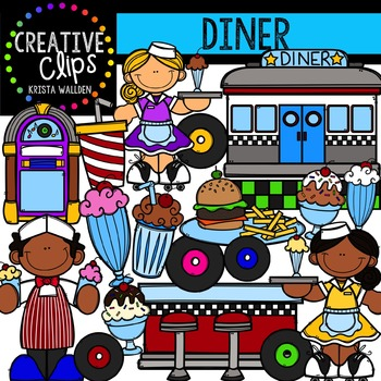 Diner {Creative Clips Digital Clipart}