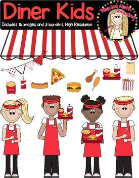Fast Food Diner Kids Clipart