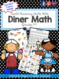 Diner (Restaurant) Math - Real World Math Task (Adding Decimals)