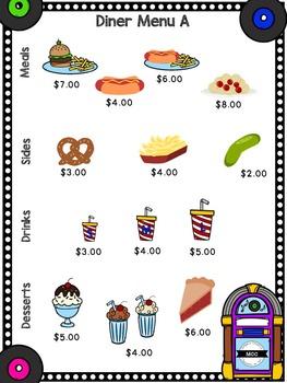 Diner (Restaurant) Math - Real World Math Task (Adding Decimals)