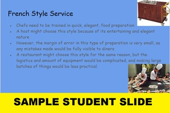 Dining Etiquette: Styles of Service Presentation Assignment and SMARTboard