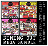 Dining Out Clip Art Mega Bundle {Educlips Clipart}