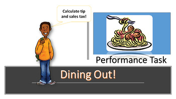 Dining Out Performance Task for Sixth & Seventh Grades