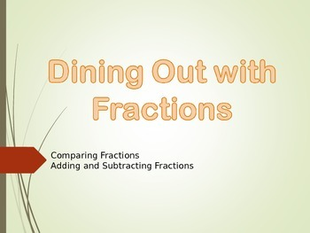 Dining Out with Fractions- Comparing, Adding and Subtracting Fractions