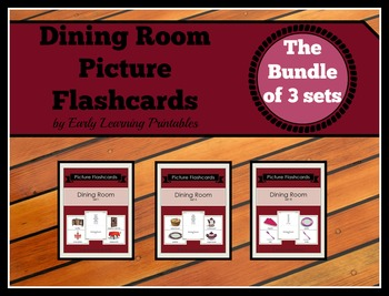 Dining Room BUNDLE (set I, II, III) Picture Flashcards