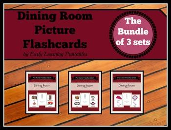 Dining Room BUNDLE (Set I, II, III) Picture Flashcards