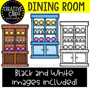 Dining Room Furniture Clipart {Creative Clips Clipart}