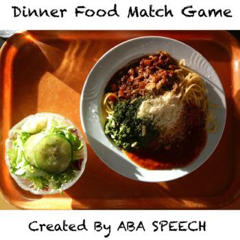 Dinner Food Match Game