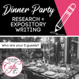Dinner Party - Research - Expository Writing Prompt