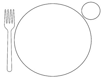 Plate setting coloring pages sketch coloring page for Dinner plate coloring page