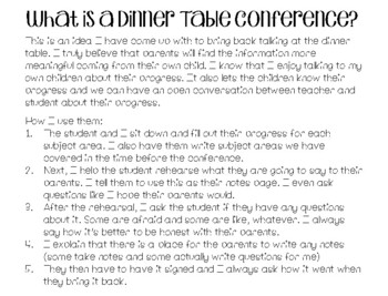 Dinner Table Conferences