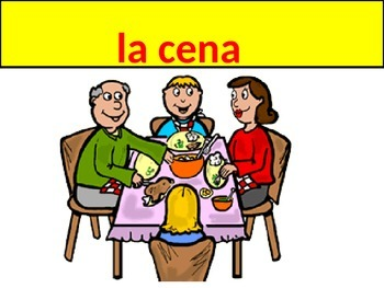 Dinner Vocabulary Realidades 1 Chapter 3B