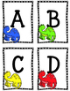 Dino ABC Flashcards. Alphabet Flashcard games. Dinosaurs