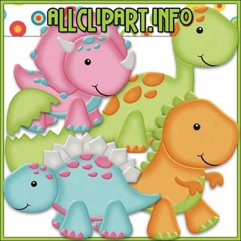 BUNDLED SET - Dino Babies Clip Art & Digital Stamp Bundle