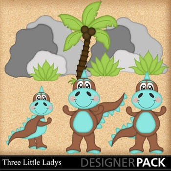 Dino Baby Boy Clipart