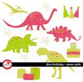 Dino Birthday Green & Pink by Poppydreamz