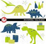 Dino Birthday Blue & Green by Poppydreamz
