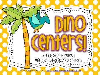 Dino Centers {Dinosaur Math and Literacy Centers}