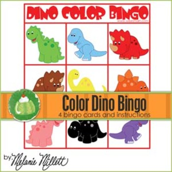 Dino Color Bingo