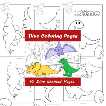 Dino Coloring Paper