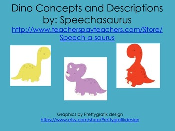 Dino Concepts and Descriptions
