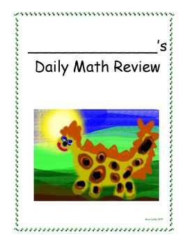 Dino Daily Math Review Book Cover