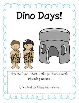 Dino Days-Rhyming Words