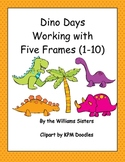 Dino Days~Five Frames Working with Numbers 1 to 10