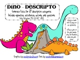 Dino-Descripto using opposites, attributes, actions, and questions