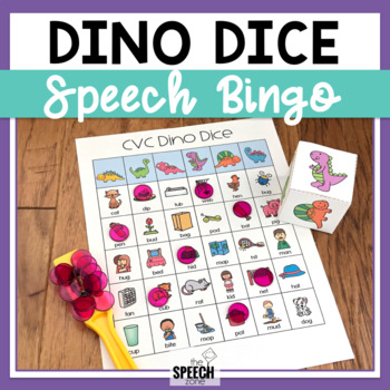 Dino Dice Speech Bingo