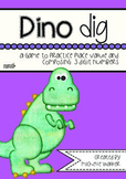 Dino Dig: A game to practice place value and composing 3 digit numbers
