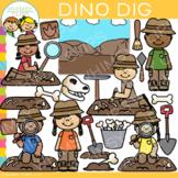 Dino Dig Clip Art