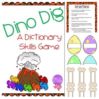 Dino Dig Dictionary Skill Activity