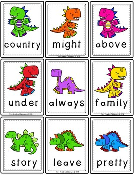 Dino Dig - Dinosaur Sight Word Game