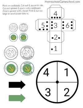 Dino Digs Number Recognition & Counting Math Game