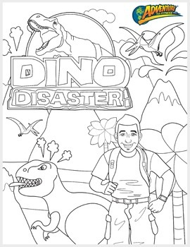 Dino Disaster Coloring Page
