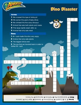 Dino Disaster Crossword Puzzle