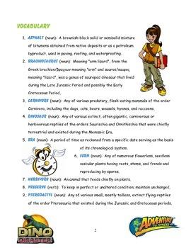 Dino Disaster Teacher Post-Episode Guide