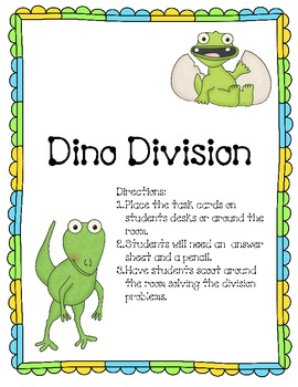 Dino Division Story Problems