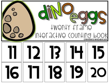 Dino Egg 20 Frame Counting Interactive Book