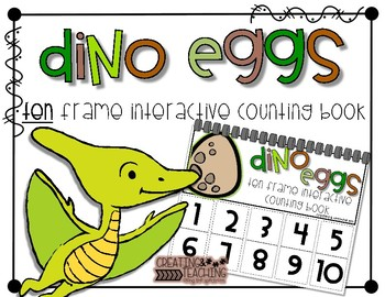 Dino Eggs 10 Frame Counting Interactive Book